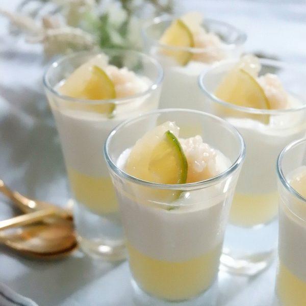 ヨーグルトムース・柑橘ゼリー・甘酒トッピング